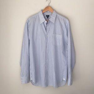 J. Crew Blue Stripe Button Front 120 Shirt